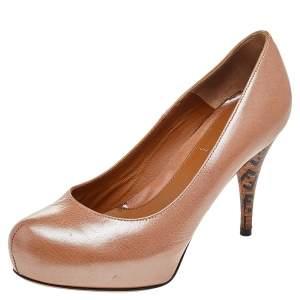 Fendi Brown Leather Pumps Size 36