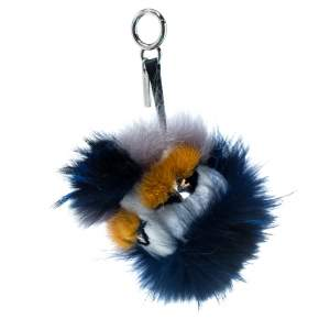 Fendi Multicolor Crystal-Eyed Fur Monster Bag Charm