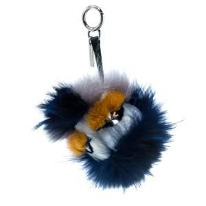 Fendi Multicolor Crystal-Eyed Fur Monster Bag Charm