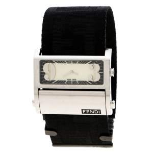 Fendi Cream Stainless Steel Zip Code1120G Women's Wristwatch 45 mm