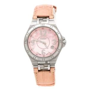 Fendi Pink Mother of Pearl Stainless Steel High Speed 4600M Women's Wristwatch 34 mm