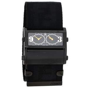 Fendi Black PVD Coated Stainless Steel Zip Code 1170G Women's Wristwatch 45.50 mm