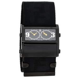 ساعة يد نسائية فندي Zip Code 1170G ستانلس ستيل مطلي PVD سوداء 45.50 مم