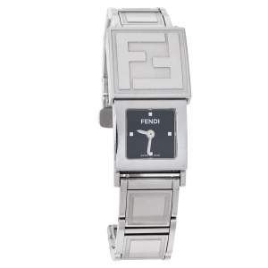 Fendi White/Black Stainless Steel Secret 5500L Women's Wristwatch 20 mm