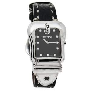 Fendi Black Stainless Steel Leather B.Fendi 3800G Women's Wristwatch 33 mm