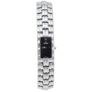 Fendi Black Stainless Steel 660L Quartz Women's Wristwatch 14 mm