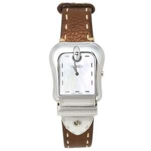 ساعة يد نسائية فندي بي.فندي 3800جي ستانلس ستيل و صدف 33 مم