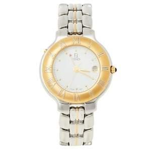 Fendi White Two-Tone Stainless Steel 920G Women's Wristwatch 36 mm
