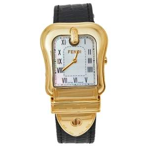 ساعة يد نسائية فندي بي فندي 3800G ستانلس ستيل مطلي ذهب صدف 33مم