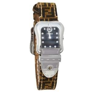 Fendi Black Stainless Steel Canvas B.Fendi 3800L Women's Wristwatch 23 mm