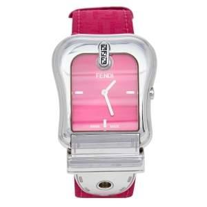 Fendi Pink Stainless Steel B.Fendi 3800G Women's Wristwatch 33 mm