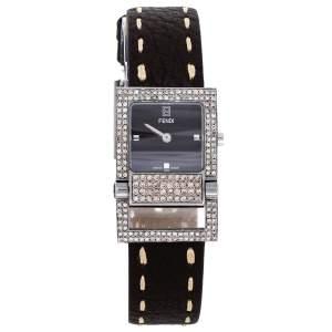 ساعة يد نسائية فندي 5200L ستانلس ستيل جلد بني 23 مم