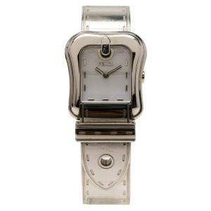 Fendi White Mother Of Pearl Stainless Steel B. Fendi Women's Wristwatch 23MM