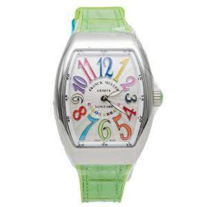 Franck Muller White Vanguard Color Dream Steel Women's Wristwatch 32X42MM