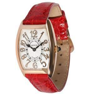 Franck Muller Silver 18K Rose Gold Curvex 1752 QZ Women's Wristwatch 25 x 8 MM