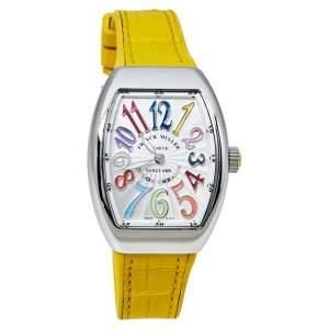 """ساعة يد نسائية فرانك مولر """"فانغوارد كولور دريمز ڨي 32 كيو زد"""" ستانلس ستيل فضية 32 مم"""
