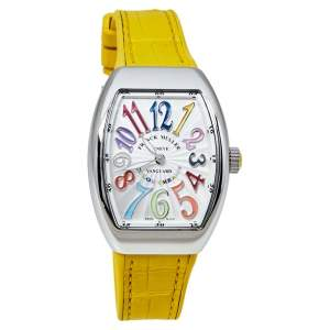 Franck Muller Silver Stainless Steel Vanguard Color Dreams V 32 QZ Women's Wristwatch 32 mm