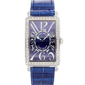 Franck Muller Blue Diamonds Stainless Steel Long Island 952QZD1R Women's Wristwatch 24 x 35 MM