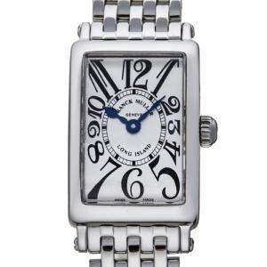 Franck Muller Silver Stainless Steel Long Island 802QZ 0AC Women's Wristwatch 18 MM