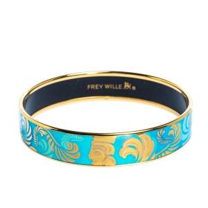 Frey Wille Turquoise Magic Sphinx Fire Enamel Miss Bordered Bangle