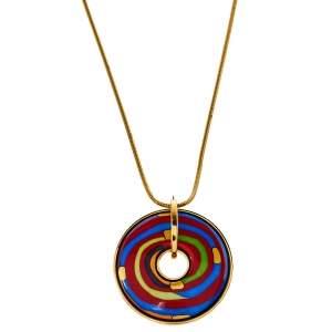 Frey Wille Hommage à Hundertwasser Spiral of Life Luna Piena Pendant Necklace