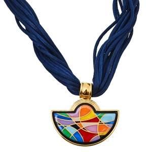 Frey Wille Ode to Joy of Life Heavenly Joy Halfmoon Pendant Multistrand Cord Necklace