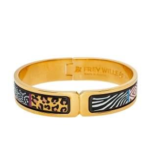 Frey Wille Spirit Of Africa Safari Multicolor Fire Enamel Ballerina Bracelet XS