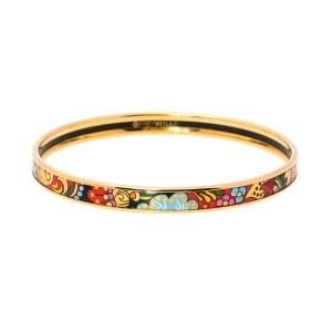 Frey Wille Multicolor Passionate Russia Golden Kalinka Bordered Ultra Bangle Bracelet