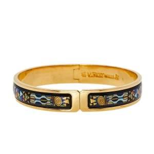 Frey Wille Gold Plated Fire Enamel Hommage à Gustav Klimt Ballerina Clasp Bangle L
