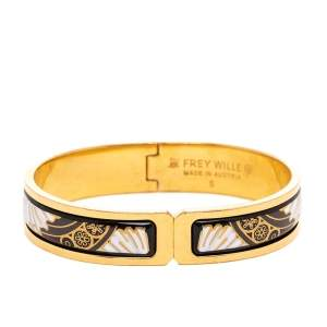 Frey Wille Passionate Russia Swan Lake Gold Plated Ballerina Clasp Bracelet S