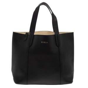 حقيبة فورلا جلد محبب أسود صغيرة