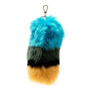 Furla Multicolor Fur Bubble Pom Pom Bag Charm