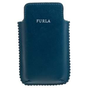 Furla Teal Leather Phone Case