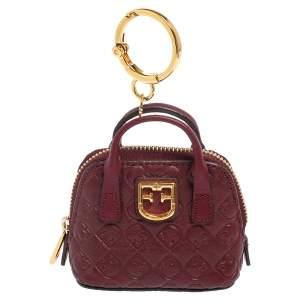 Furla Burgundy Leather Fantastica Keyring