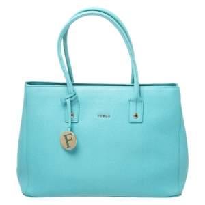 حقيبة يد فورلا Linda جلد خضراء مينت