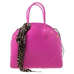 Furla Pink Rubber Bugatti Satchel