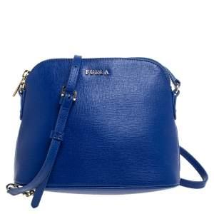 Furla Royal Blue Leather Miky Shoulder Bag