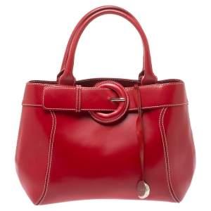 حقيبة فورلا بإبزيم جلد أحمر