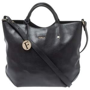 Furla Black Leather Alissa Tote