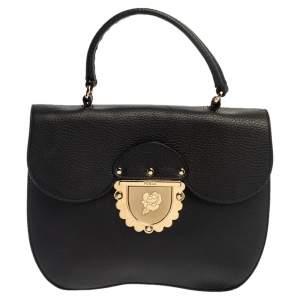 Furla Black Leather Ducale Top Handle Bag