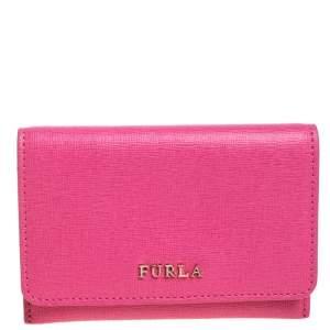 Furla Pink Leather Babylon Card Holder