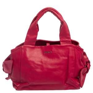 حقيبة يد فورلا مزينة عقد جلد فوشيا