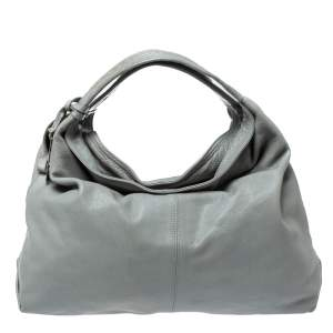 Furla Grey Leather Elisabeth Hobo