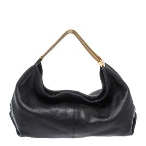 Furla Black Leather Luna Hobo