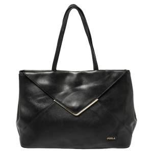 حقيبة يد فورلا كيليس جلد أسود