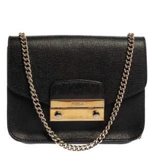 حقيبة كروس فورلا ميتروبوليس صغيرة جلد أسود