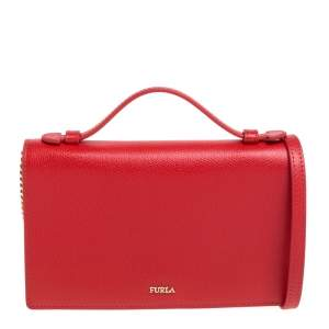 Furla Red Leather Incanto Crossbody Bag