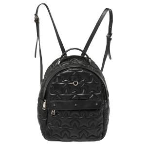 Furla Black Start Quilted Leather Small Favola Backpack