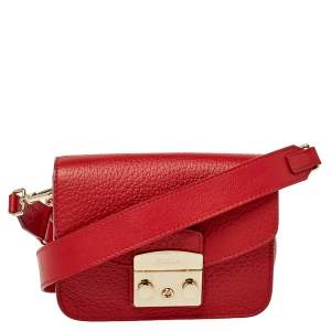 حقيبة كروس فورلا ميني ميتروبوليس جلد أحمر