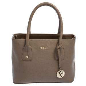 Furla Brown Leather Small Linda Tote